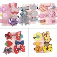 6Pc Cute Hairpin Baby Girl Hair Clip Bow Flower Mini Barrettes Star Kids Infant