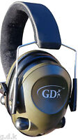 GDK MP3, GREEN, SLIMLINE, ELECTRONIC EAR DEFENDER,6 x SOUND ENHANCEMENT, MUFFS,