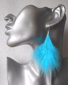 Handmade Marabou Feather Earrings - Colour Choice - Pierced or Clip-on
