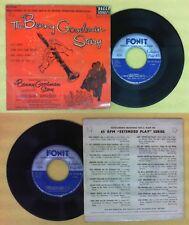 LP 45 7''THE BENNY GOODMAN STORY Let's dance Down south camp meetin no cd mc dvd