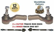 FOR VOLVO C70 2006--> INNER x2 & OUTER x2 STEERING TRACK RACK TIE ROD END SET