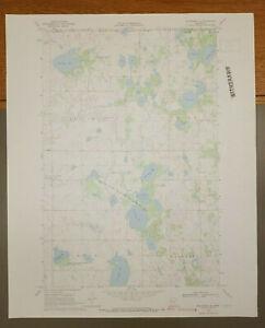 "Mahnomen NE, Minnesota Original Vintage 1969 USGS Topo Map 27"" x 22"""