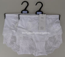 New Womens Marks & Spencer Sophia Lace White Shorts Knickers Size 8 x 2