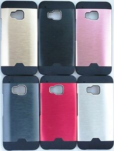 Thin Hybrid Aluminum Metal Brush +PC Hard Case Cover for HTC M9