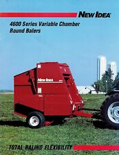 NEW IDEA 4600 SERIES ROUND BALER  SPECIFICATIONS and SALES BROCHURE