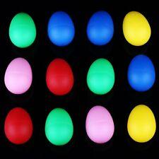 12Pcs Plastic Percussion Musical Egg Maracas Shakers Children Kids Toy Gift