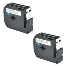 2 pack for Brother P-touch PT80 PT70 Black on White Label Tape M-K231 MK231