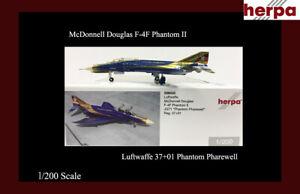 Luftwaffe McDonnell Douglas F-4F  Phantom Pharewell Luftwaffe Herpa 1/500 LTD