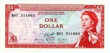 East Caribbean States ... P-13g ... 1 Dollar ... ND(1965) ... *UNC*  Block B87.