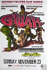 "GWAR 2008 SAN DIEGO ""ELECTILE DYSFUNCTION TOUR"" POSTER-Back From Antartica,Again"