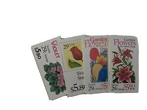 29c Books, unused, Flower-themed US postage stamps