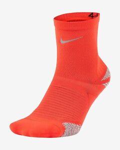 Nike Racing Bright Crimson Unisex Ankle Socks Men Size 8-9.5 Women 9.5-11