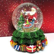 Holiday Lane Musical Snow Globe Santa With Toy Filled Sack Gifts, NIB, Rare