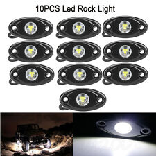 10x 9W White CREE LED Rock Light JEEP Off-road Truck Under Body Trail Rig Light