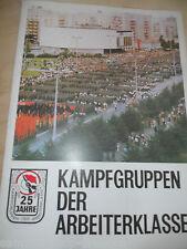 23104 25 Jahre Kampfgruppen der Arbeiterklasse 10 Plakate A3 Mappe 1973
