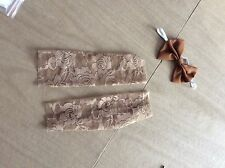 Newborn infant toffee lace leg warmer set photo prop