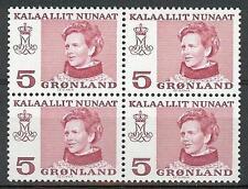 Greenland 1973 Sc# 86 Queen Margarethe block 4 Mnh