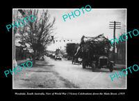 OLD POSTCARD SIZE PHOTO WOODVILLE SOUTH AUSTRALIA, WWI CELEBRATIONS c1919