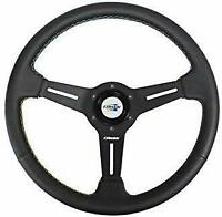 GREDDY STEERING WHEEL Black leather 16500201