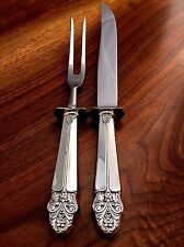 Wolfenden Silver Co Silver Handled Carving Set: WOX 1 Pattern c1950 No Mono