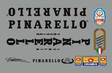 PINARELLO TREVISO FRAME DECAL SET FROM 1982/84 IN BLACK