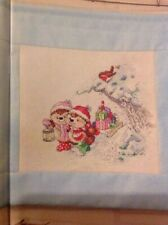 (X5) Country Companions Ed Hedgehog Present Robin Christmas Cross Stitch Chart