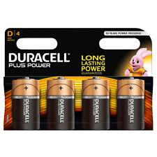 Paquete De 4 De Tamaño D Duracell Plus Power baterías Lr20 mn1300 Baterías