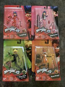 "Set of 4 Miraculous Ladybug, Marinette Cat Noir & Rena Rouge 5.5"" Action Figures"