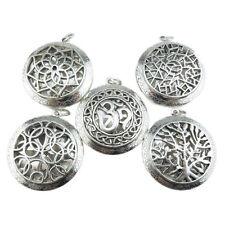 Mix 5pcs/lot  Women Silver Tree Yoga Om Flower Copper Locket Pendant