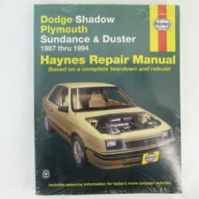 Haynes Manuals: Dodge Shadow, Plymouth Sundance and Duster 1987 - 1994 Brand New