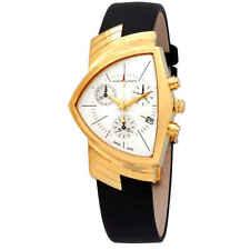 Hamilton Ventura Chronograph Shield-Shaped White Dial Men's Watch H24422751