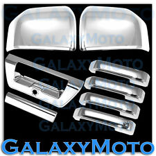 15-16 Ford F150 Triple Chrome Mirror+4 Door handle+Tailgate w/Camera Cover 2016