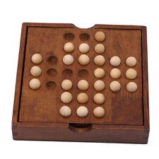 Game Wood Puzzles Marble Solitaire Chess Games Intelligence Entertainment Toy FG