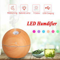 LED Ultrasonic Aroma Diffuser Air Aromatherapy Purifier Essential Oil Humidifier