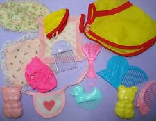 Vtg 80s MY LITTLE PONY Mlp G1 HUGE ACCESSORY Lot Clothes Brushes Bibs etc 14p