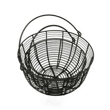 Metal Wire Egg Basket Fruit Baskets With Handle Vintage Storage Basket, Set of 2