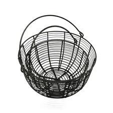 Metal Wire Egg Basket Fruit Baskets With Handle Vintage Storage Basket, Set of 2