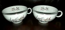 Universal Pottery STRAWFLOWER Ballerina Mist U.S.A. (2) Coffee/Tea Cups