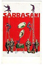 POSTCARD GERMAN SARRASANI CIRCUS ACROBATS (UNSIGNED) CARL MOOS