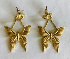 Oscar De La Renta Swallowtail Butterfly Earrings