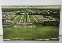 Vtg Postcard NC Camp Lejeune Administration Building 2nd Marine Division Base