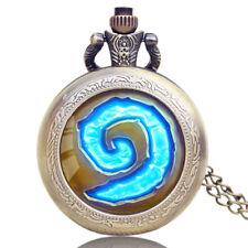 Special Pattern World Of Warcraft Hearthstone Quartz Pocket Watch Pendant Chain