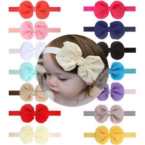 2021 Single Top Knot Baby Headband Girl Newborn Toddler Bow Turban Head Band NEW
