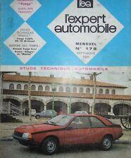 Revue technique RENAULT FUEGO TL GTL AUTOMATIC AUTOMATIC RTA EXPERT 179 1981