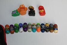 12 MIGHTY BEANZ lot with 4 costumes and case