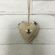 Bumble Bee Handmade Fabric Hanging Door Heart Shabby Chic Vintage Decoration