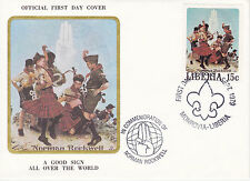1979 Liberia Scouting / Norman Rockwell Commem.Fdc Cover - Good Sign Over World