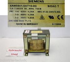 siemens TRANSFORMATOR 7,35KVA  6,96A  sek 31-32  230V  4am5941-5at10-0c