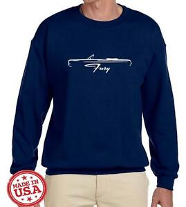 1967 Plymouth Fury Convertible Classic Outline Design Sweatshirt NEW