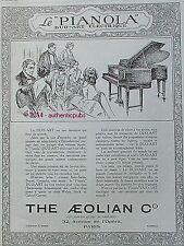 PUBLICITE PIANO PIANOLA DUO ART THE AEOLIAN DE 1925 FRENCH AD PUB ART DECO